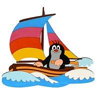 Drevená dekorácia - Krtko na lodi - Dekorácia do detskej izby