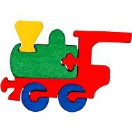 Drevené vkladanie puzzle – Malý vláčik - Puzzle