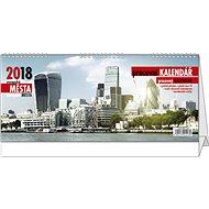 BALOUŠEK pracovný kalendár 2018 – európske mestá - Stolový kalendár