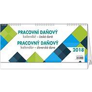 BALOUŠEK pracovný kalendár 2018 – dane CZ/SK - Stolový kalendár