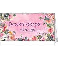 BALOUŠEK Dvouletý kalendář s měsíčním kalendáriem 2019/2020 - Stolový kalendár