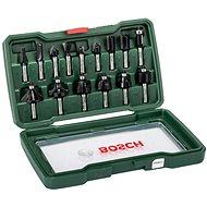 Bosch 15-dielna súprava fréz z tvrdokovu (stopka 8 mm) - Súprava fréz
