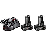 Bosch Starter súprava 2× GBA 12 V + GAL 1230 CV Professional - Nabíjačka a náhradná batéria