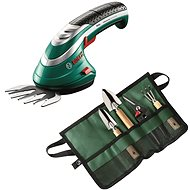 BOSCH ISIO 3 for Grass + Set of Handy Garden Tools - Grass Shears