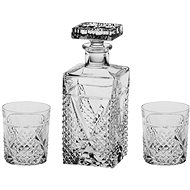 BOHEMIA CRYSTAL Megan Whisky set, 3ks