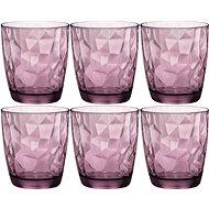 BORMIOLI Pohár DIAMOND 300 ml fialová, 6 ks - Sada pohárov