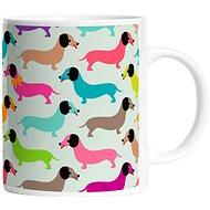 Butter Kings hrnček dachshunds in colours - Hrnček