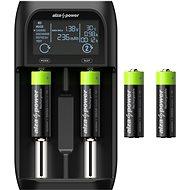 AlzaPower USB Battery Charger AP250B + Rechargeable HR6 (AA) 2500 mAh 4ks - Nabíjačka batérií