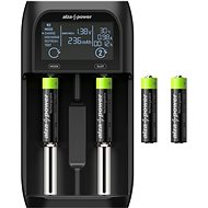AlzaPower USB Battery Charger AP250B + Rechargeable HR03 (AAA) 1000 mAh 4ks - Nabíjačka batérií