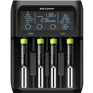 AlzaPower USB Battery Charger AP450B + Rechargeable HR03 (AAA) 1000 mAh 4 ks - Nabíjačka batérií