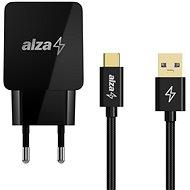 AlzaPower Q100 Quick Charge 3.0 + AluCore USB-C 3.2 Gen 1, 1 m čierny - Nabíjačka