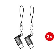 AlzaPower Keychain Micro USB - USB-C (2ks)
