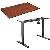 Stôl AlzaErgo Table ET1 NewGen čierny + doska TTE-01 140 × 80cm hnedá dyha - Stůl