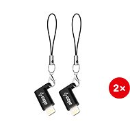 AlzaPower Keychain Micro USB - Lightning Mfi (2ks)