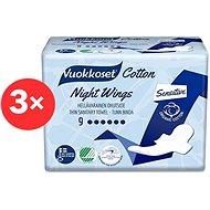 VUOKKOSET Cotton Night Wings 3× 9 ks