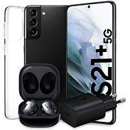 Samsung Galaxy S21 + 5G 128GB black + Samsung Galaxy Buds Live Black + Samsung 25W power adapter no