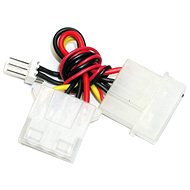 "Redukce napájení z 4 pin 5.25"" konektoru [zdroj] na 3pin konektor [chladič] - Male - Redukcia"