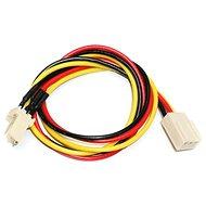 Predlžovací kábel napájania pre 3pin konektor [chladič] - 0,3m - Napájací kábel