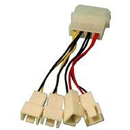 OEM 1x 4-pin konektor --> 2x 3-pin konektor 5 V a 2x 3-pin konektor 12 V - Redukcia