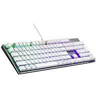 Cooler Master SK652, TTC Low BLUE Switch, biela – US INTL - Herná klávesnica