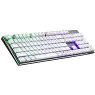 Cooler Master SK653, TTC Low BLUE Switch, biela – US INTL - Herná klávesnica