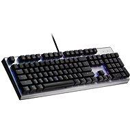 Cooler Master CK351, Red Switch, strieborná – US INTL - Herná klávesnica