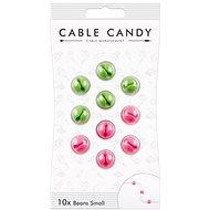 Cable Candy Small Beans 10 ks zelený a růžový