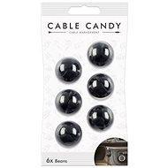Cable Candy Beans 6 ks čierny - Organizér káblov