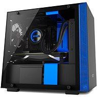 NZXT skriňa H200 čierno-modrá - Počítačová skriňa