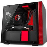 NZXT skříň H200 černo-červená - Počítačová skriňa