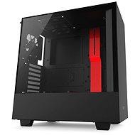 NZXT H500 čierno-červená - Počítačová skriňa