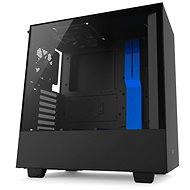 NZXT H500 čierno-modrá - Počítačová skriňa