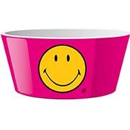 ZAK Miska na cereálie SMILEY 15 cm, farba malinová - Miska