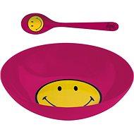 ZAK Snídaňový set SMILEY 17cm, barva malinová - Súprava