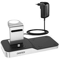 Bezdrôtová nabíjačka ChoeTech 4 in 1 MFi Wireless Charging Dock for iPhone + Apple Watch + AirPods