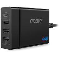 Nabíjačka do siete ChoeTech Multi Charge USB-C PD 60 W + 3× USB-A Charging Station