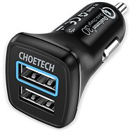ChoeTech Quick 2x QC3.0 USB-A Car Charger Black - Nabíjačka do auta