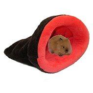 Marysa 2 v 1 mini pre hlodavce a fretky tmavo sivý / ružový - Tuli vak