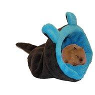 Marysa 2 v 1 mini - Myšiak pre hlodavce a fretky, tmavosivý/modrý - Tuli vak