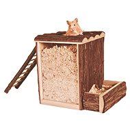 Trixie Natural Living Domček a hracia veža s rebríkom 25 × 24 × 20 cm - Domček pre hlodavce