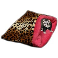 Marysa 3 v 1 pre fretky leopard / tmavo ružový - Tuli vak