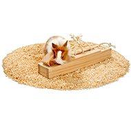 Karlie - Interaktívna drevená hračka, 6 kociek, 37,5 × 8,5 × 6,5 cm - Hračka pre hlodavce