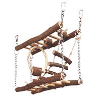 Trixie Natural Living Most drevený dvojitý pre myši a škrečky 27 × 17 × 7 cm - Preliezka pre hlodavce