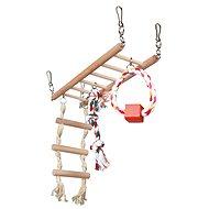 Trixie Hojdačka do klietky trojuzol s kruhom a rebríkom 29 × 25 × 9 cm