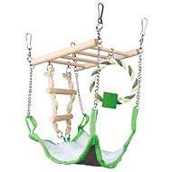 Trixie Závesný rebrík s peleštekom a bavlneným kruhom - Preliezka pre hlodavce