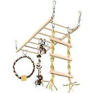 Trixie Závesný rebrík s činkou a kruhom - Preliezka pre hlodavce