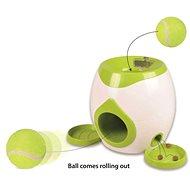 Flamingo Interaktívna hračka na maškrty s tenisovou loptičkou 29 × 19 × 18 cm - Interaktívna hračka pre psov
