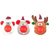 Flamingo Vianočná hračka plyšová hlava gumový nos 21 cm