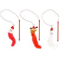 Flamingo Vianočná hračka – snehuliak, Santa, sob - Hračka pre mačky