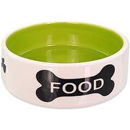 Dog Fantasy Miska DF keramická, potlač kosť bielo-zelená